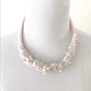 Jewelry - Women's Pink Statement Choker Necklace